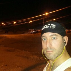 Night running on the sands of Bahrain. (at Juffair)