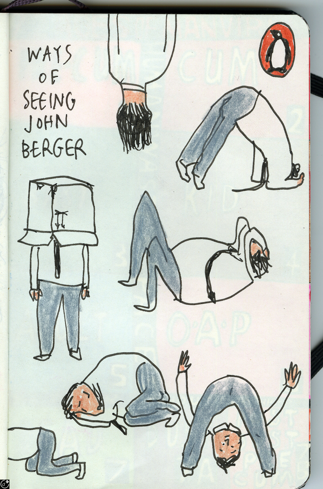 "Alternative ""Ways of Seeing"" by John Berger book cover by Harry Malt"