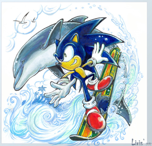 liris-san:  Sonic and Ecco - Wave Ocean Yeah, the fun continues! ;)   This is absolutely amazing - your Ecco and Sonic arts just get better and better Liris!!