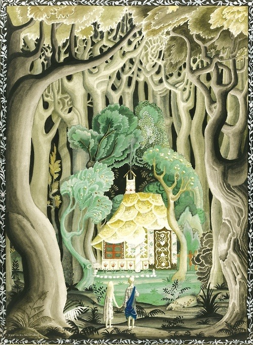 "beatpie:  KAY NIELSEN. ""THEY SAW THAT THE COTTAGE WAS MADE OF BREAD AND CAKES"""