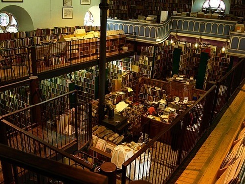 Leakey's Second Hand Bookshop, Inverness, Scotland. Leakey's is Scotland's largest second-hand bookstore. Opened in 1972 and formerly home to St Mary's Gaelic Church (built 1792), the historic premises are a perfect environment to browse through rows of tall wooden shelves stuffed with books on every subject imaginable. (Photo by Juls Chong)
