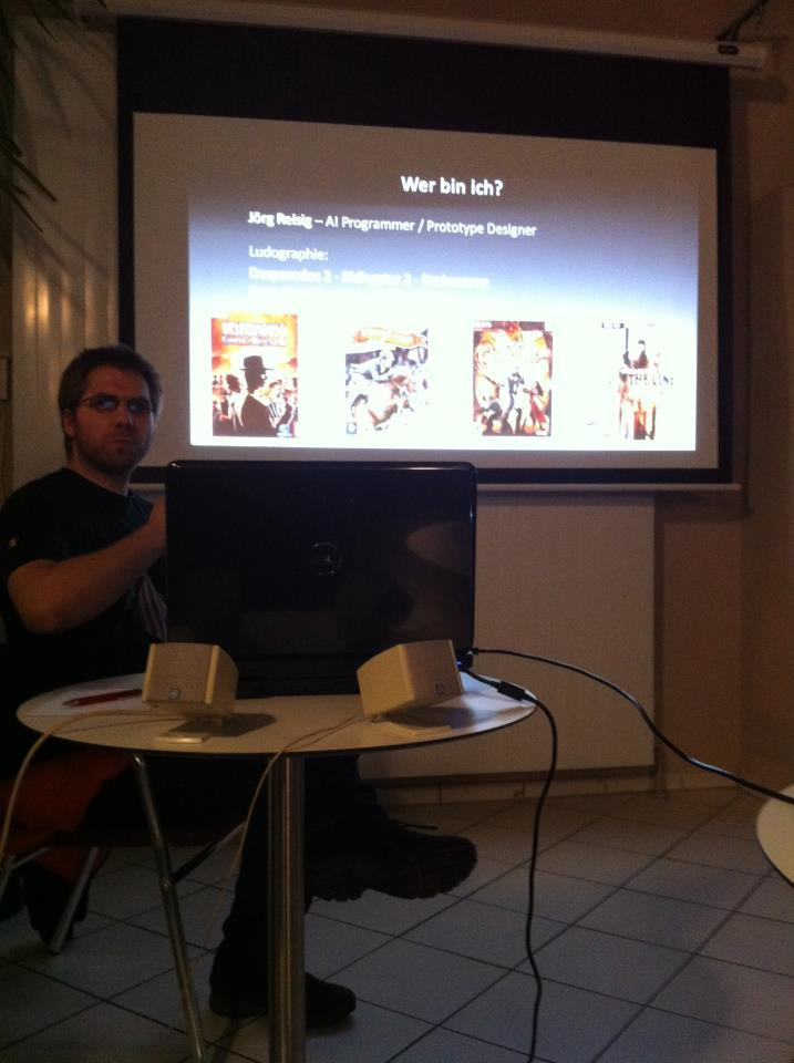 Myself in Munich @ IT Agenten Talking about Spec Ops: The Line