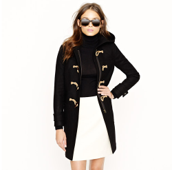 TOGGLE COAT IN WOOL-CASHMERE