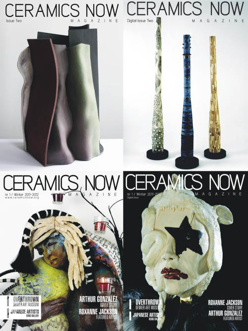 Ceramics Now Magazine has some treats for you! Our new package for digital subscriptions + Digital Issue One for FREE. Check our offers below. Digital Subscription (10 issues) - Ceramics Now Magazine  Digital Subscription - Ceramics Now Magazine: 10 Digital Issues per year! + Digital Issue One as a gift, delivered right after you pay (.PDF and .EPUB files for PC, Windows, Mac, iPad, iPhone). The next one will be delivered in December to your email address. What's in a New Digital Issue:~ 50 pages, interviews, reviews, exhibition releases, images, artist profiles, crisp contemporary design. Digital Issue One - Ceramics Now MagazineGET IT FOR FREE or name a fair price.  Digital Issue One - Ceramics Now Magazine, is the first issue of our beloved magazine, featuring over forty contemporary ceramic artists in exactly 100 pages. Get it just like that or you can think of a sum to pay for it (yes, there is a maximum of $1000, so please don't magnify all the thing). What you get: Two beautiful .PDF and .EPUB files for your PC (Windows), Mac, iPad or iPhone. The link is provided by WeTransfer. Digital Issue Two (Pre-Order) - Ceramics Now Magazine  Digital Issue Two - Ceramics Now Magazine (to be published in December - available for pre-order), is our second magnificent printed issue, this time made with more care and attention to detail. This issue sees the inauguration of our new Reviews category. What you get: Two beautiful .PDF and .EPUB files for your PC (Windows), Mac, iPad or iPhone, delivered in December.+ Digital Issue One as a gift, delivered to your email right after you pay. The links are provided by WeTransfer.Read more about Ceramics Now / Ceramic artists listFollow us on Facebook and Twitter & subscribe to our free monthly newsletter. Contact: office@ceramicsnow.org