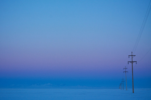 nomadicnotions:  Twilight in Big Sky Country on Flickr. Shot out my car window. -4F and a sky that would take your breath away. I dearly miss the mountains, but this part of Montana certainly does have a beauty all its own.