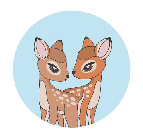 Deer twins illustration :)