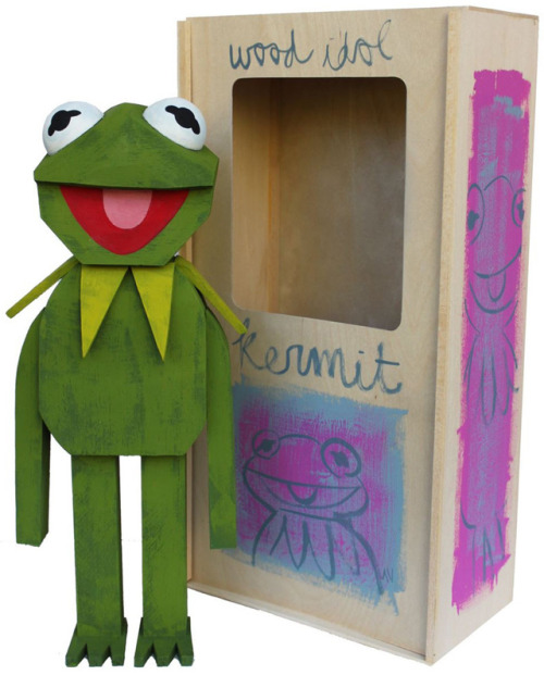 laughingsquid:  Wooden Muppet Idol Sculptures by Amanda Visell