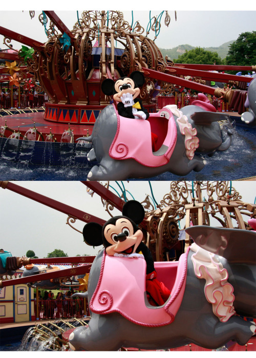 hitochos:  Mickey Mouse enjoyed The Dumbo. He is so cute.