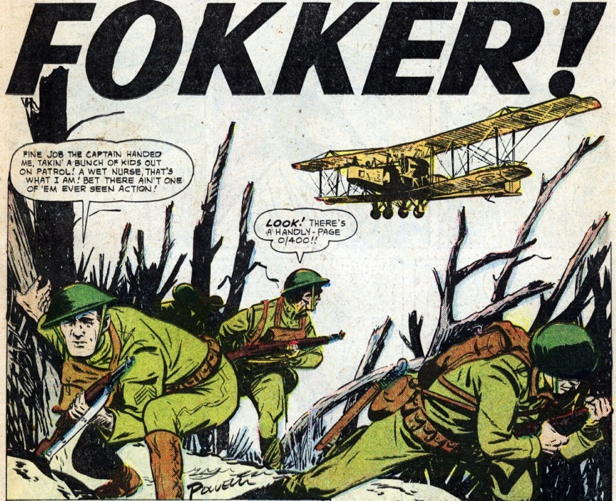 From Battle #55. Art by Bob Powell.