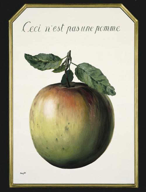 artruby:  René Magritte,Ceci N'est Pas Une Pomme,(1964). Part of upcoming Art BaselChristie's exhibit atJW Marriott Marquis Miami.