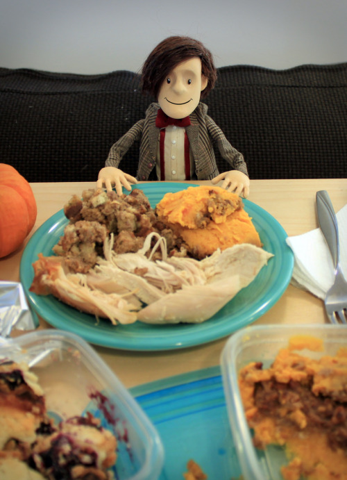 Happy belated Thanksgiving, Tumblr! I forgot to bring my camera to the actual feast last night, so instead I documented myself enjoying round one of the leftovers today. I am so thankful to have over 6,500 fantastic followers, and am grateful for all your kind words over the past few months. Thanks everyone!