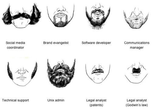 laughingsquid:  Field Guide to Tech Facial Hair