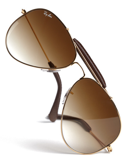 GQ Selects: Ray-Ban Pilot Icon Folding Aviators Ray-Ban has put a new spin on their iconic aviator, thanks to hinges that allow the shades to fold up into the size of a single lens. However, this pair still holds true to the hallmarks of the classic we love, like brown gradient lenses and leather accents on the brow and temple. It's a reinvented classic that continues to conjure up images of McQueen and Newman in their heydays.