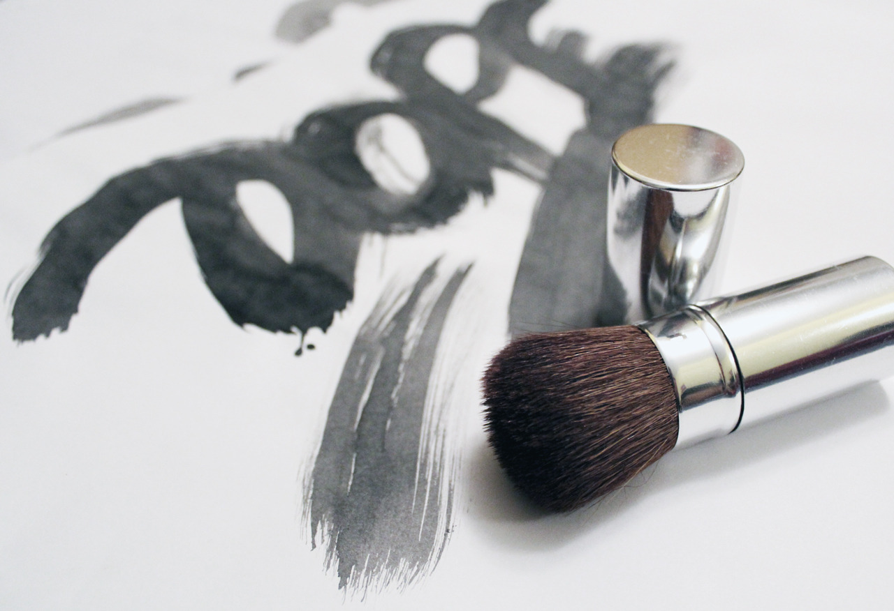 Calligraphi.ca — Dope, make-up brush, black chinese ink — Sergey Shapiro