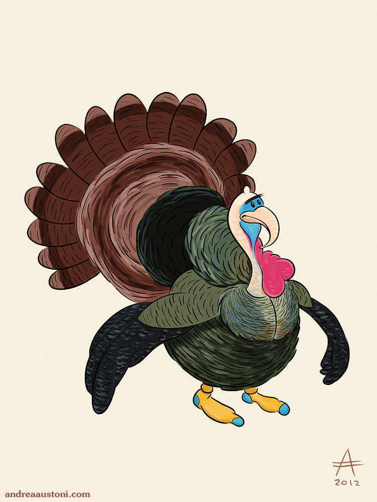 Turkey with unibrow.