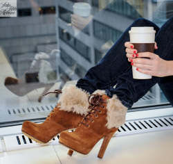 10022-shoe:  Cozy up on a cold day with hot cocoa and Gucci.