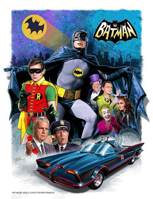 Batman 1966 poster by Christopher Franchi (2012) Awesome…