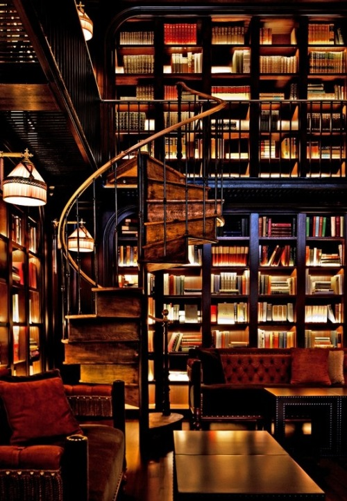 justthedesign:  The Reading Room In The NoMad Hotel in New York