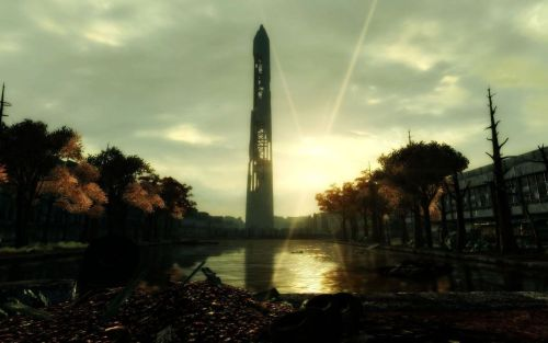 thecaptainreynolds:  Lovely Fallout 3 scenery. This game still blows my mind.