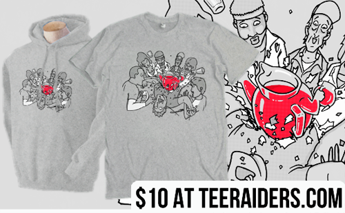 TeeRaiders is offering this design for only $10 until tomorrow, If you still feel in a Friday buying spree you should try out and buy one because $10. This goes until tomorrow and after that well no more $10 dollar shirt with this design for you, so do your magic.