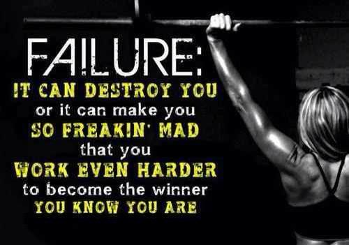 Don't be defeated! Channel that energy to come out on top!!!!