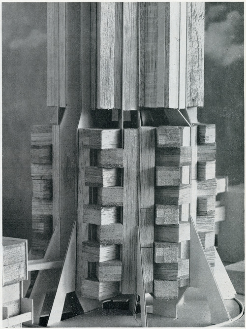 architectureofdoom:  ryanpanos:  Owen Luder. Architectural Review v.141 n.839 Jan 1967: 31 | RNDRD  A model for the Derwent Tower a.k.a. Dunston Rocket  That's canny.