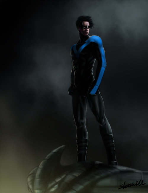 youngjusticefanart:  nightwing by ~sherrill018