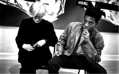artistandstudio:  Warhol and Basquiat, 1985