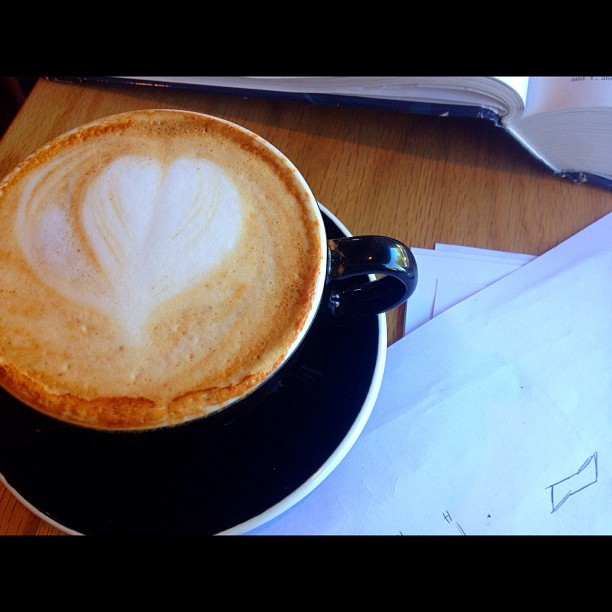 Latte art, honey cinnamon. #coffee #jj #photooftheday #studying #instagood