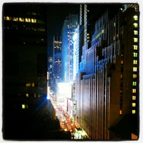 view from my cousin's bedroom. times square is obnoxiously bright like. all. the. time.