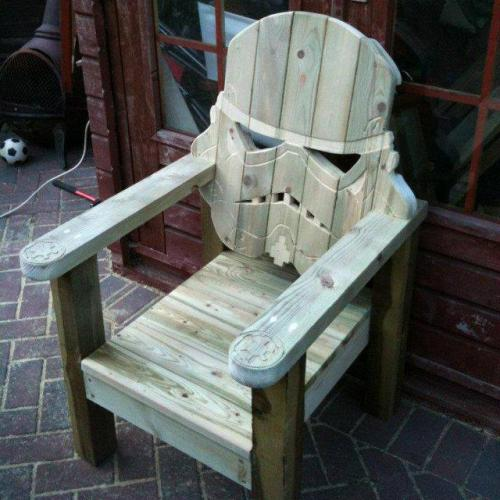 woodchuckcanuck:  Stormtrooper Head Chair by GotWood Workshop