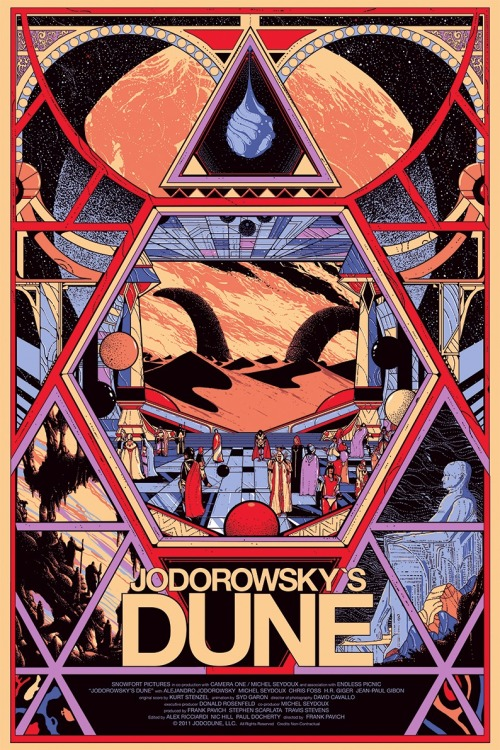 itwonlast:  Jodorowsky's Dune gets the Mondo poster treatment, art by Kilian Eng