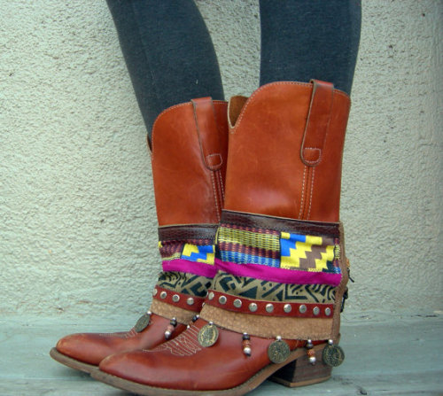 Frieda Khente  boot cuffs now @ www.lotusrootscreations.etsy.com