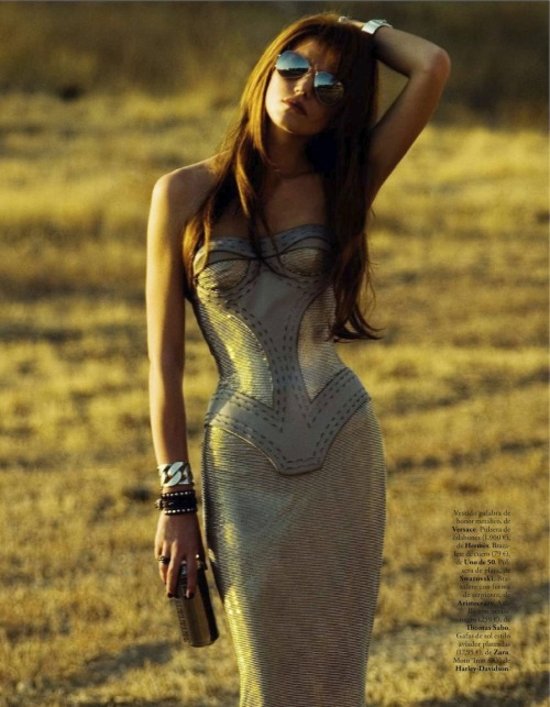 "stormtrooperfashion:  Malgozata Moksecka in ""Rock on the Road"" by Juan Aldabaldetrecu for Elle Spain, December 2012"
