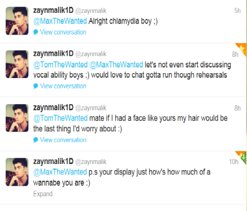 The Wanted. You just got owned by Zayn Malik.