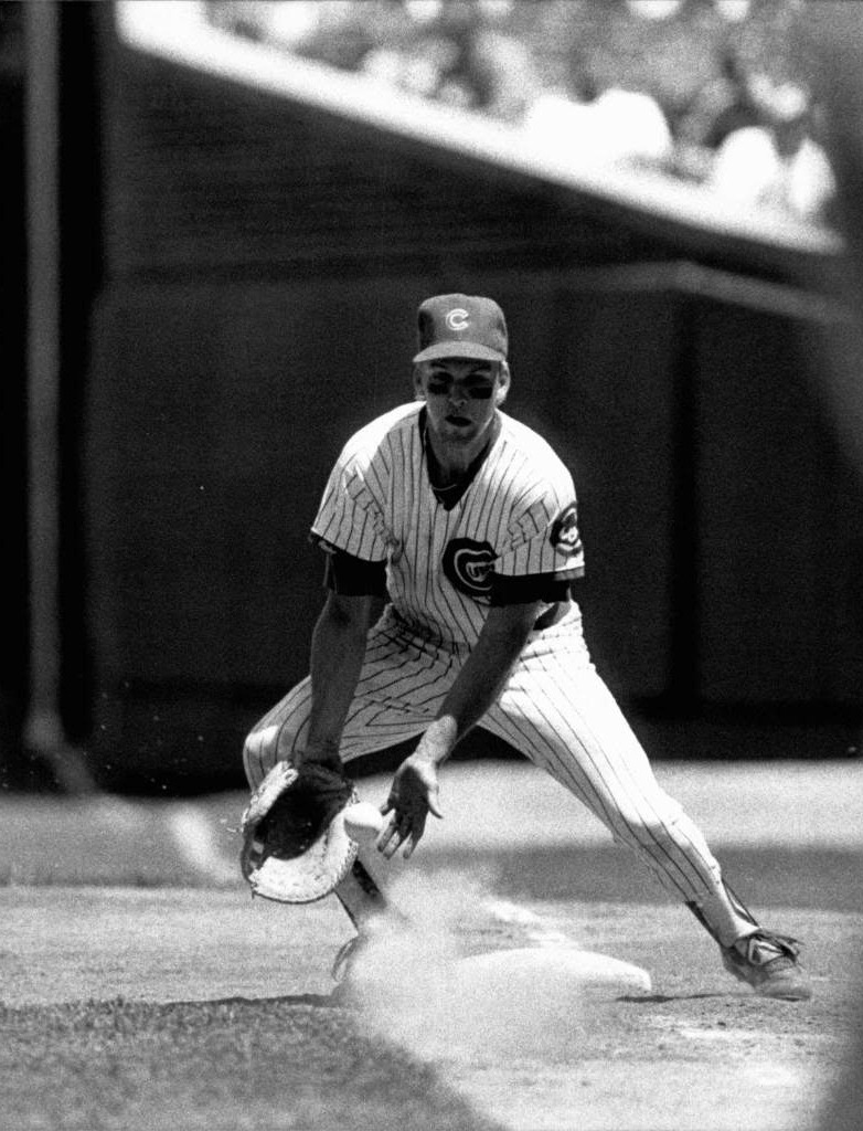 a young mark grace picking it at first for the cubs in 1988 or 89.