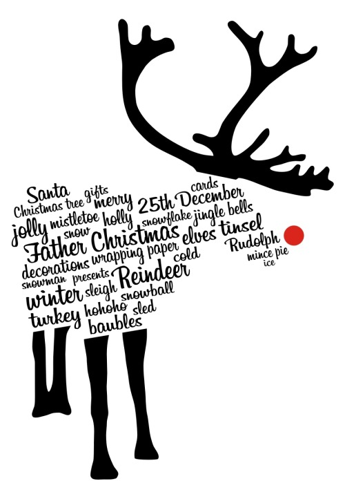My improved 'Rudolph Typography' design is now up for voting over at Qwertee.com, so if you think that Qwertee should print it as a T-shirt please click on the image above and vote!