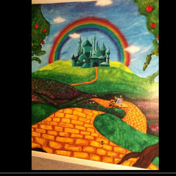 #myart #art #mural #wizardofoz #oz #carascreations #paint