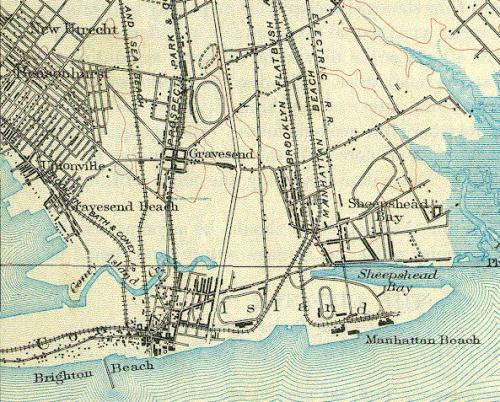 Brooklyn Survey Map of Coney Island 1888