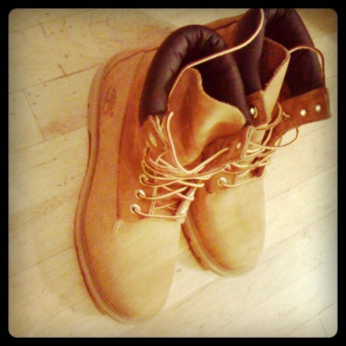 Also got a pair of Timbs. On sale at Modells.  I'm so ghetto lately.