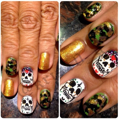 Mr. & Mrs. sugar skulls X camo