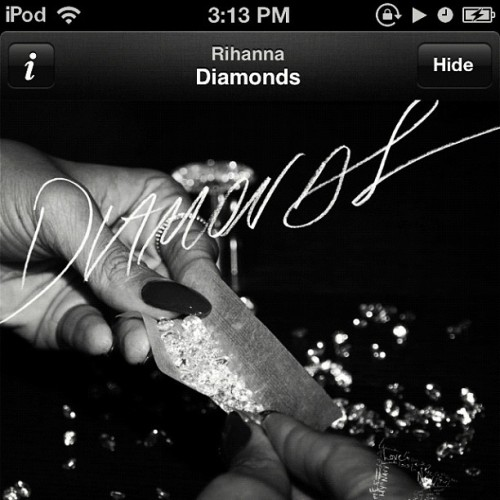 Song for the day. #Diamonds #spotify
