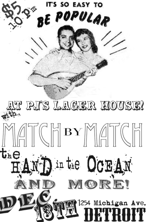 motmevents:  MOTM4 alum Match by Match + MOTM5 artist The Hand in the Ocean  Oh hey! That's us! And didja know that The Ferdy Mayne and Teenage Octopus are playing now too?!