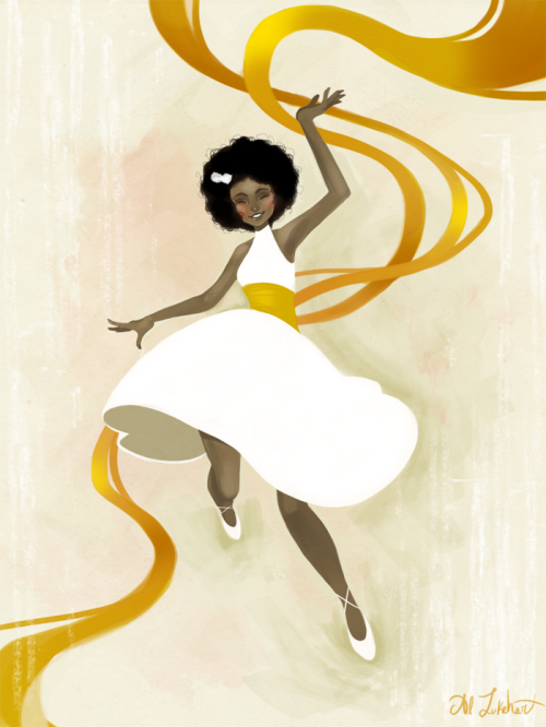 eatsleepdraw:  Falling Ribbons November 2012  Yesterday's quick wind-down-for-bed painting! Artist's Tumblr!