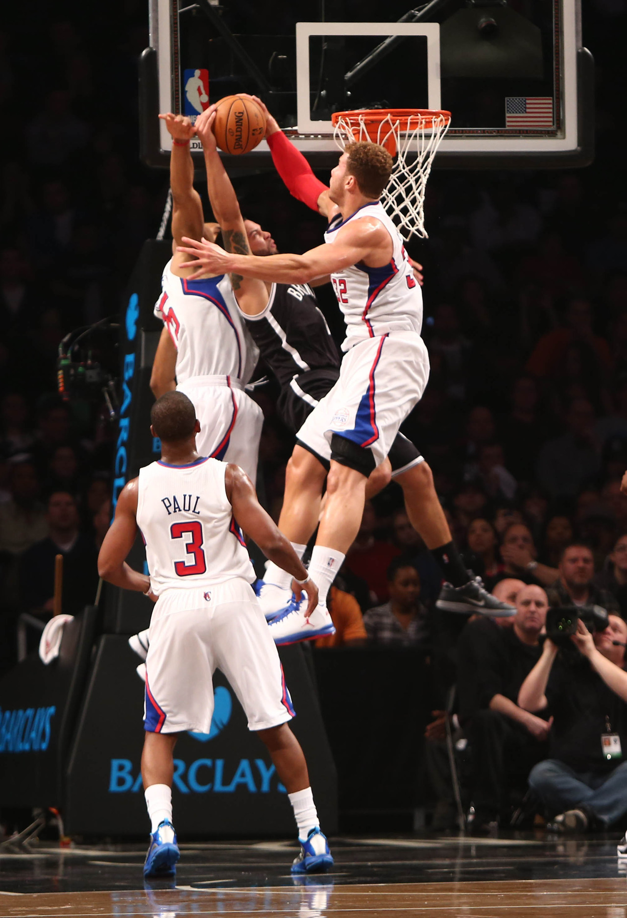 Deron Williams thought he could dunk on Blake Griffin. Blake Griffin thought otherwise.