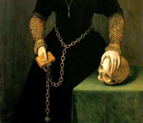 "muscavomitoria:  Portrait of Katheryn of Berain, ""The Mother of Wales"" (detail)Adriaen van Cronenburgh, 1568."