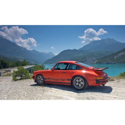 My 911 Carrera 3.0 lightweight tracing the Monte Carlo #Rally through the Alps #porsche