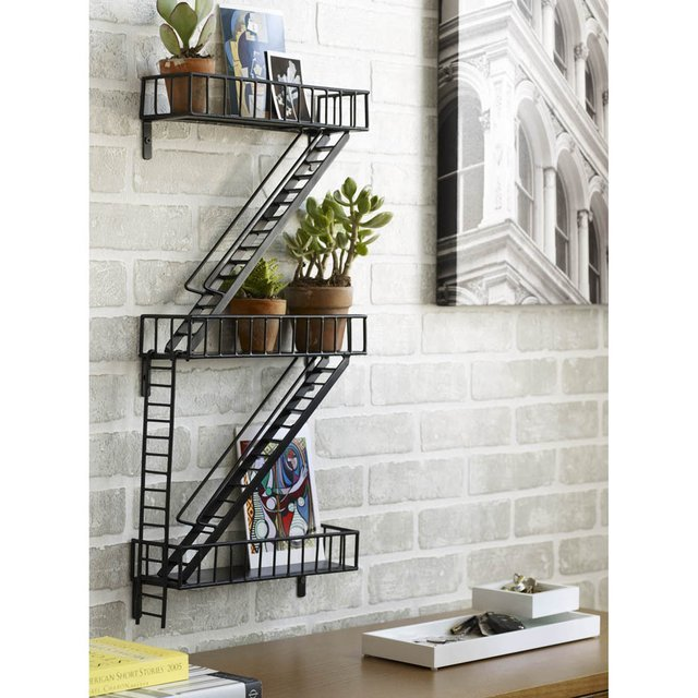 e-pic:  Fire Escape Shelf via organize.com