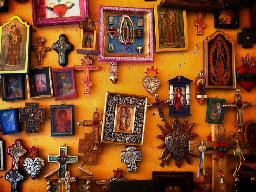 "wall of crucifix, Pátzcuaro, Michoacán, Mexico Pátzcuaro is a large town and municipality located in the state of Michoacán. The town was founded sometime in the 1320s, at first becoming the capital of the Tarascan state and later its ceremonial center. After the Spanish took over, Vasco de Quiroga worked to make Pátzcuaro the capital of the New Spain province of Michoacán, but after his death, the capital would be moved to nearby Valladolid (today Morelia). Pátzcuaro has retained its colonial and indigenous character since then, and has been named both a ""Pueblo Mágico"" and one of the 100 Historic World Treasure Cities by the United Nations. Pátzcuaro and the lake region it belongs to is well known as a site for Day of the Dead celebrations. ~ Wiki"