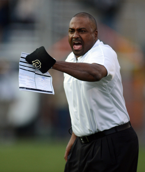 LOOKING FORWARD After a 1-11 season, the CU Buffs and head coach Jon Embree are looking to next season to rekindle both fan enthusiasm and winning numbers. Check out the full story at www.buffzone.com. Photo by Cliff Grassmick, Daily Camera